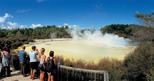 Visit Rotora's geothermal area on your New Zealand Vacation
