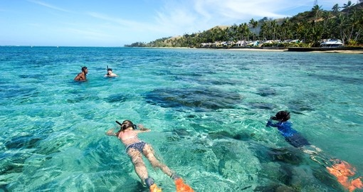 Learn and enjoy snorkeling on Fiji's Coral Coast.