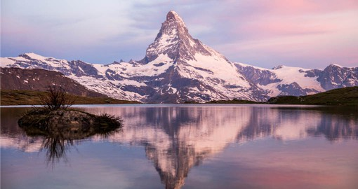 Zermatt lies at the foot of the Matterhorn, Switzerland's iconic mountain