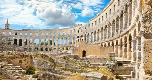 The Pula Arena is the sixth largest surviving Roman amphitheatre