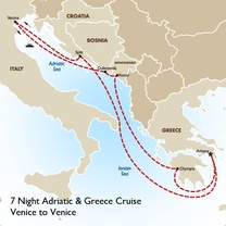 7 Night Adriatic & Greece Cruise: Venice to Venice
