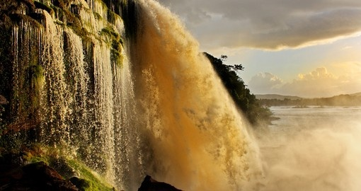 Beautiful waterfall in Canaima