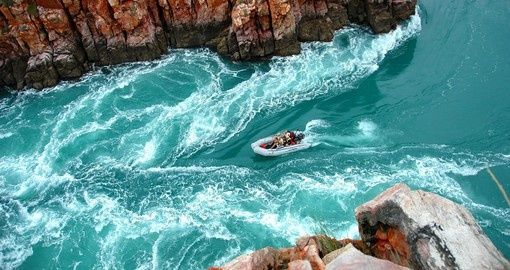 Fast running Kimberley Horizontal Falls will leave you speechless during your next Australia vacations.