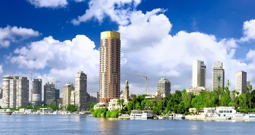 Cairo city, seafront of Nile River
