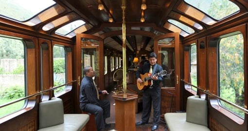 Chose the Hiram Bingham Train on your Peru Vacation