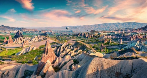 "The local people refer to the unique rock formations of Cappadocia as ""fairy chimneys"""