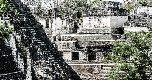 Marvel at the ancient Mayan ruins in Tikal Nation al Park on your Guatemala Vacation