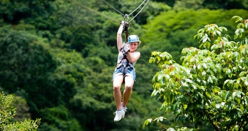 Ziplining through the jungle
