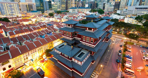 Buddha's Relic Tooth Temple in Singapore's Chinatown