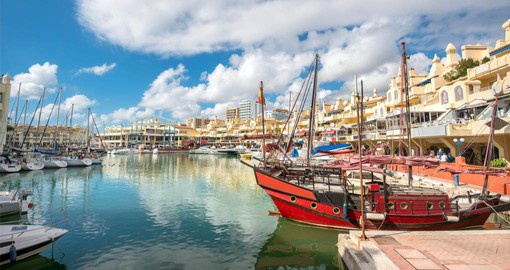 Puerto Marina offers excellent shopping & dining and is also home to The Sea Life Centre