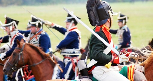 Napoleonic War reenactment