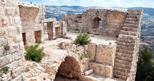 Ajloun fortress, Arab and crusaders fort, Jordan