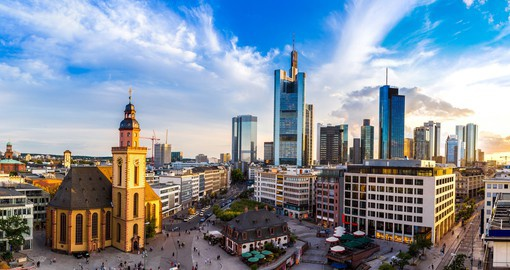 Your German vacation would not be complete without spending time wandering the streets of Frankfurt to see the fascinating contrasts between modern and historic sites