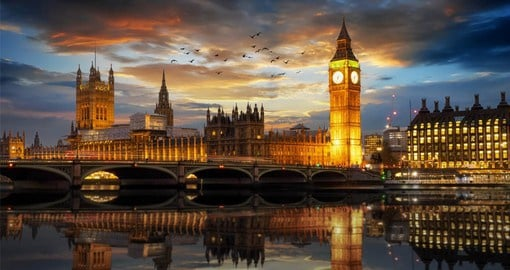 Westminster Palace, also referred to as the Houses of Parliament, is a Gothic style building and the seat of the UK's Government