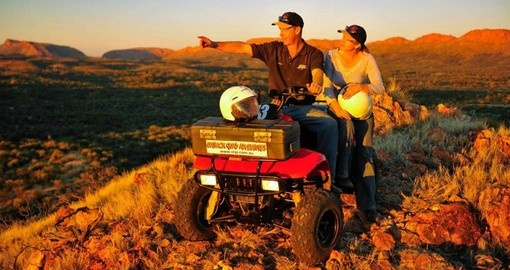 Near Alice Springs find adventure on the Two Stations Quad Bike Tour as part of your Australian Vacation