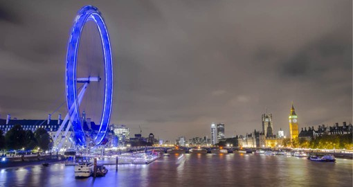 Europe's tallest Ferris Wheel, The London Eye gives spectacular views of the historic city
