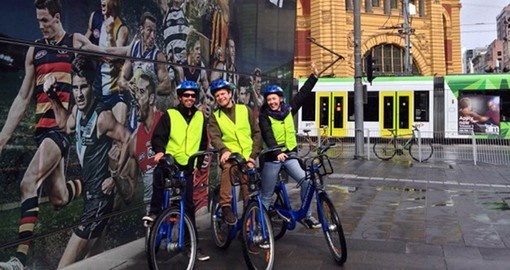 See Melbourne by bike on your Australia Vacation