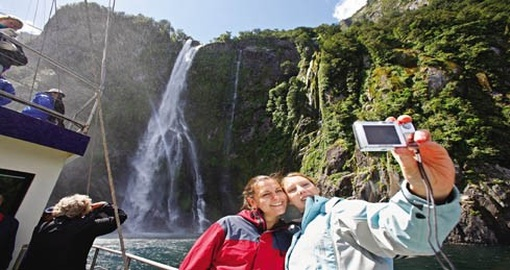 Enjoying Milford Sound