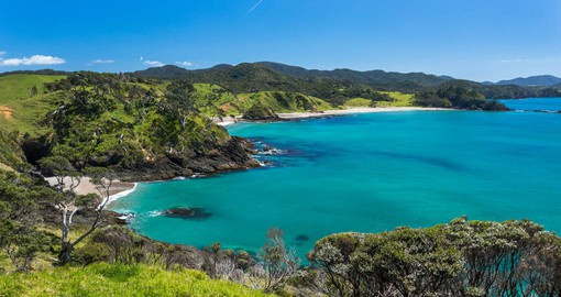 Visit one of the many coves around the Bay of Islands as part of your New Zealand Vacation.