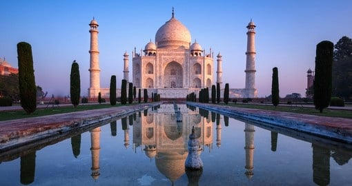 The fabulous Taj Mahal - a popular site to be seen on all India tours.