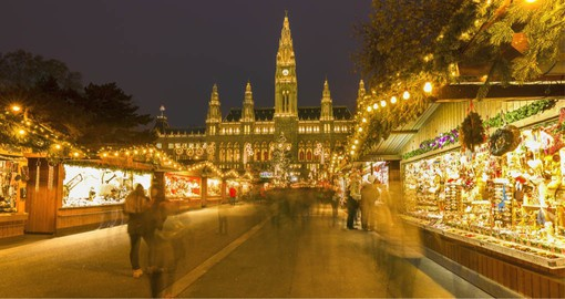 Christmas markets have been held in Vienna's Rathausplatz since 1772