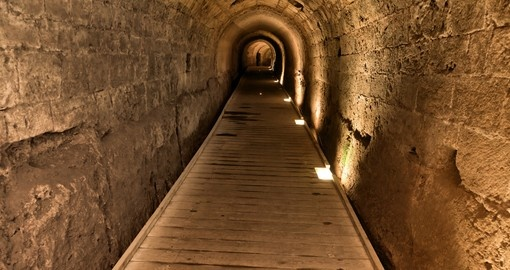 The Templar tunnel in the old town of Acco