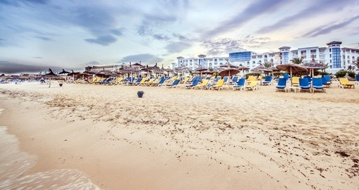 Walk on the beach at Hammamet during your next Tunisia vacations.