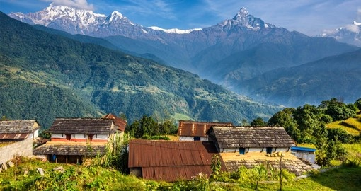 Nepal Tours visit Pokhara in the Himalaya's to experience typical Nepalese village life