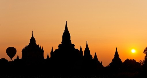 Silhouette of Bagan