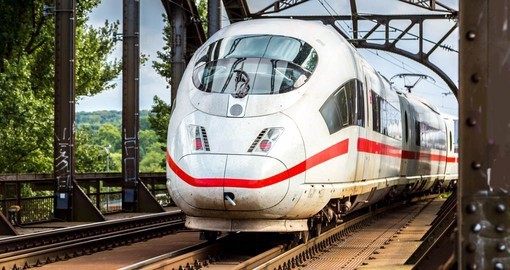 Travel on Deutsche Bahn's flagship train, The Intercity-Express (ICE Train)