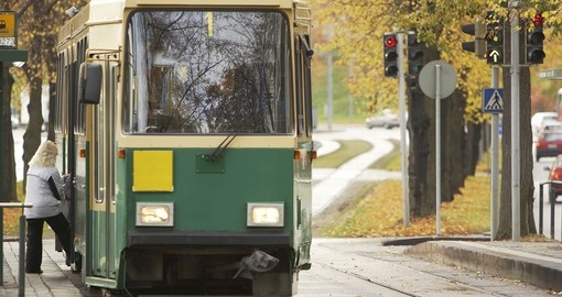 Public transport vehicle in Helsinki