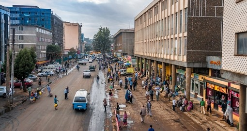 The streets of Addis Ababa