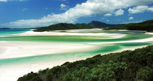 Swirling sands of the Whitsundays Islands