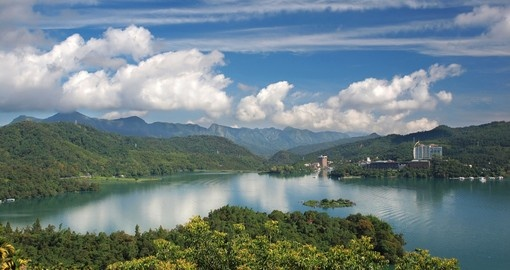 Beautiful Sun Moon Lake in central Taiwan