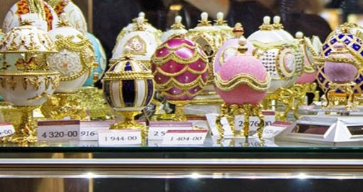 Visit the Faberge Museum with the famed Eggs as part of your trip to Russia