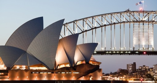 See the Sydney Opera House and Harbor Bridge during your Australia vacation.
