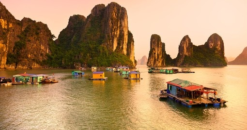 Halong Bay is a Unesco World Heritage Site