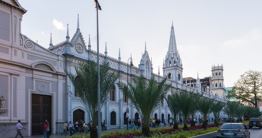Palace of the Academies is a neo-gothic building at Avenida Universidad
