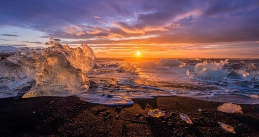 Jokulsarlon Glacier Lagoon is one of Iceland's most popular attractions due to its stunning beauty