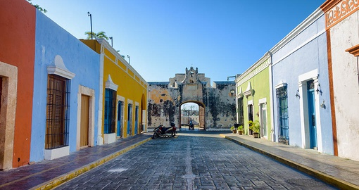 Colourful Colonial Street in Campeche