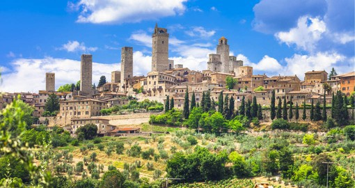 Known as the Town of Fine Towers, San Gimignano is famous for its medieval architecture