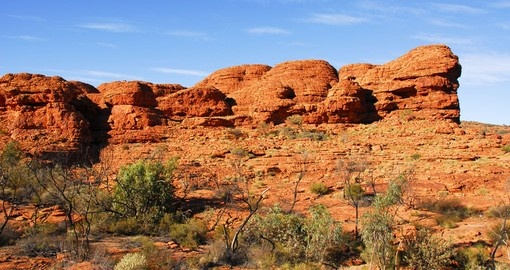 Out in the Australian Outback you can visit the magnificent Kings Canyon and learn about the regions history