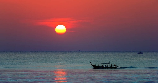 Enjoy a beautiful tropical sunset on your Thailand vacation