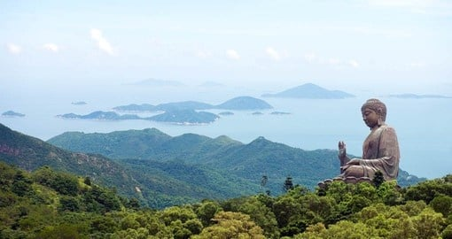 Experience the Giant Buddha of Po Lin Monastery on Lantau Island on your Hong Kong Vacation