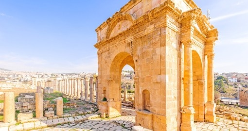 Northern Tetrapylon in Jerash