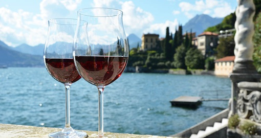 Enjoy a glass of wine on your Italy vacation