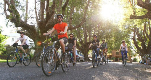 Experience Brisbane in the morning by bicycle as part of your Australia vacation