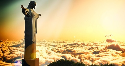 Christ The Reedemer above the clouds