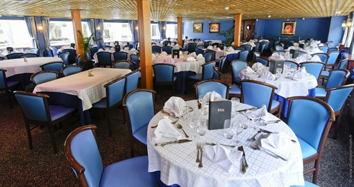 The Restaurant on the MS Renoir.