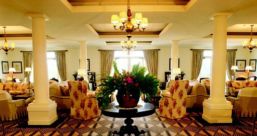 Enter the welcoming lobby at Lilianfels on your Australia vacation